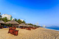 Nha Trang City Beach, Early Morning Stock Photography
