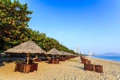 Nha Trang City Beach, Early Morning Royalty Free Stock Photography