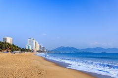 Nha Trang City Beach, Early Morning Stock Image