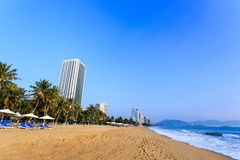 Nha Trang City Beach, Early Morning Stock Photos