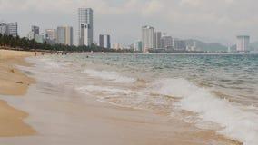 Nha Trang City Beach. Vietnam. stock footage