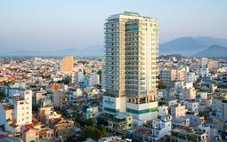 Nha Trang city panorama. Green World Hotel Royalty Free Stock Photography