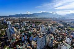 Nha Trang city panorama with mountains Vietnam Stock Photos