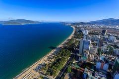 Nha Trang city panorama with sea and mountains Vietnam Royalty Free Stock Photo