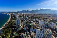 Nha Trang city panorama with sea and mountains Vietnam Stock Image