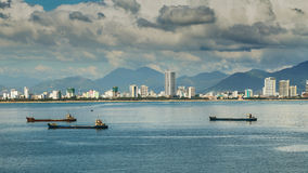 Nha Trang City, viewed from Vinpearl's Cable Car Stock Photography