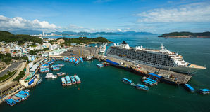 Nha Trang City, viewed from Vinpearl's Cable Car Royalty Free Stock Images