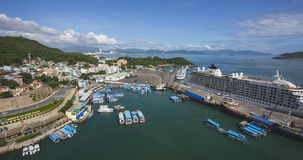 Nha Trang City, viewed from Vinpearl`s Cable Car Stock Photo