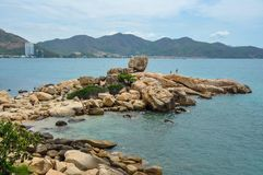 View of Nha Trang city from other side stock images