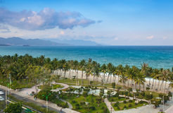 Beach in Nha Trang, Vietnam Royalty Free Stock Photography