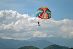 Nha Trang Eilanden: Valschermvlucht royalty-vrije stock afbeelding