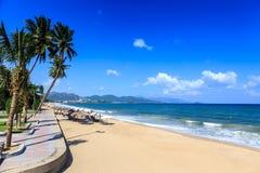 Nha Trang miasta plaża, Wietnam Zdjęcie Stock
