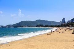 Nha Trang miasta plaża, Wietnam Obraz Stock