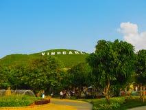 Nha Trang, Vietnam - Februari 12, 2011: Hon Tre Island eller det Vinperl nöjesfältet Arkivbild