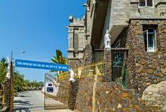 Christ the King Cathedral, Nha Trang. Roman Catholicism in Vietnam. Nha Trang, Vietnam - February 11, 2015: Christ the King Cathedral, Nha Trang Catholic Diocese royalty free stock photo
