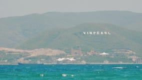 NHA TRANG, VIETNAM - JAN 10, 2017: The famous island Vinpearl, Nha Trang, Vietnam. stock video