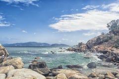 nha trang Vietnam Kamienny ogrodowy Hon Chong zdjęcie stock
