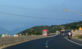 Highway in Nha Trang, Vietnam stock images
