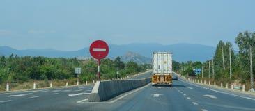 Highway in Nha Trang, Vietnam stock image