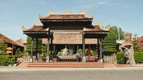 NHA TRANG, VIETNAM - OCTOBER 1, 2016: Architectural attractions of Nha Trang. Historical buildings. Tourism. stock video