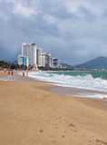 NHA TRANG, VIETNAM: View of the city beach and hotels in Stock Photography