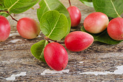 Nham dang or sour fruit on wood Stock Images