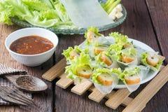 Nham due, Vietnamese food. On a wooden floor Stock Photo