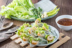 Nham due, Vietnamese food. On a wooden floor Royalty Free Stock Images