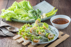 Nham due, Vietnamese food. On a wooden floor Royalty Free Stock Photos