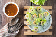 Nham due, Vietnamese food. On a wooden floor Royalty Free Stock Image