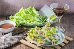 Nham due, Vietnamese food. On a wooden floor Royalty Free Stock Photo