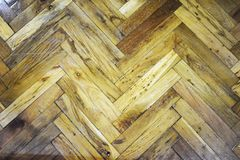 hardwood with geometric pattern royalty free stock photo
