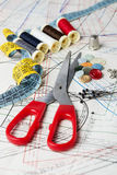 Nähende Werkzeuge Lizenzfreie Stockfotografie
