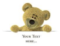 Nhi Bear with billboard, top. Stock Image