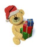 Nhi Bear with christmas-presents Stock Image