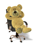 Nhi Bear Relaxes In Office. Royalty Free Stock Photos