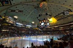 NHL曲棍球赛竞技场 免版税库存照片