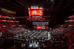 2015 NHL Draft - Florida Panthers. The Florida Panthers logo appears on the jumbo screen as they get set to take their turn to select in the 1st round, at the Royalty Free Stock Photography