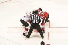 NHL face-off fotografia royalty free