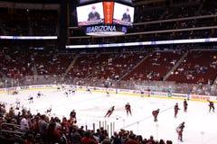 NHL Hockey - Edmonton Oilers & Phoenix Coyotes Royalty Free Stock Images