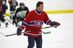 NHL Hockey Stephane Richer Skates. Former National Hockey League star Stephane Richer instructs at a hockey clinic in Sussex, New Brunswick, Canada, on Dec. 10 Stock Image
