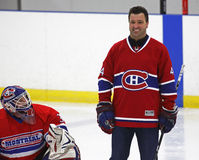 NHL Hockey Stephane Richer Smiles. Former National Hockey League star Stephane Richer is introduced at a hockey clinic in Sussex, New Brunswick, Canada, on Dec Royalty Free Stock Image