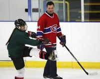 NHL-Hockey Stephane Richer Teaches stock afbeelding