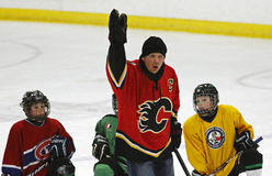NHL Hockey Theo Fleury Instruction Royalty Free Stock Images