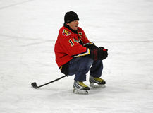 NHL Hockey Theo Fleury Stick Sits Royalty Free Stock Image