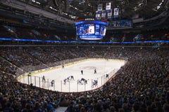 Nhl-hockeylek Arkivbild