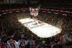 NHL-Hockeyspel stock fotografie