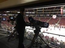 NHL meczu hokeja Wyemitowana kamera Obraz Royalty Free