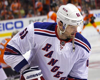 NHL New York Rangers All-Star Rick Nash [2014 Stanley Cup Playoffs Round 1] Royalty Free Stock Photos