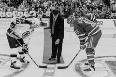 NHL-oud-Tijdopnemers Royalty-vrije Stock Foto's